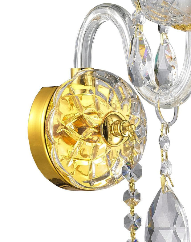 Bohemian Elegance Single Arm Wall Light Sconce - GOLD - Designer Chandelier