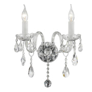 Bohemian Elegance Double Arm Wall Light Sconce - CHROME - Designer Chandelier