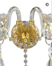 Bohemian Elegance Double Arm Wall Light Sconce - GOLD - Designer Chandelier