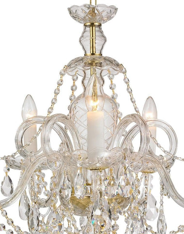 Bohemian Prague 5 Arm Crystal Chandelier - Brass Fixtures Bohemian Prague 5 Arm Crystal Chandelier - Brass Fixtures - Designer Chandelier