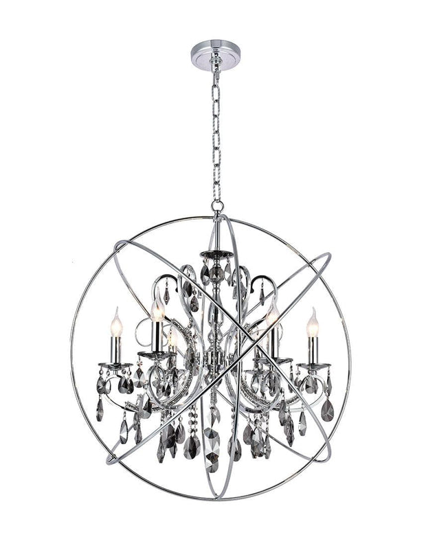 NewYork Princess ORB Outer - 6 Arm Chandelier - SMOKE - W:62 - Designer Chandelier