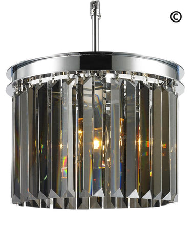 NewYork Oasis Open Ring Chandelier- Smoke Finish - W:30cm NewYork Oasis Open Ring Chandelier- Smoke Finish - W:30cm
