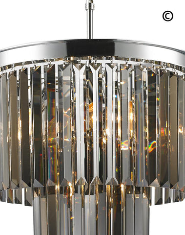 NewYork Oasis Chandelier- 2 Layer - Smoke Finish - W:40cm - Designer Chandelier  NewYork Oasis Chandelier- 2 Layer - Smoke Finish - W:40cm - Designer Chandelier