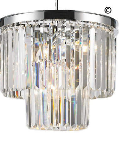 NewYork Oasis Chandelier- 2 Layer - Clear Finish - W:40cm NewYork Oasis Chandelier- 2 Layer - Clear Finish - W:40cm-Designer Chandelier Australia