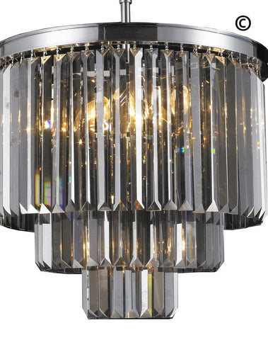 NewYork Oasis Chandelier- 3 Layer - Smoke Finish - W:50cm - Designer Chandelier  NewYork Oasis Chandelier- 3 Layer - Smoke Finish - W:50cm - Designer Chandelier
