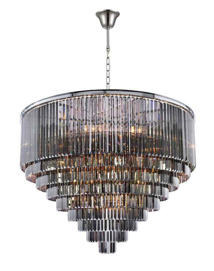 Odeon (Oasis) Chandelier- Large 9 Layer - Smoke  Finish - W:130cm - Designer Chandelier