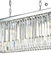 Oasis Bar Light Chandelier- Clear Finish - W:80cm - Designer Chandelier