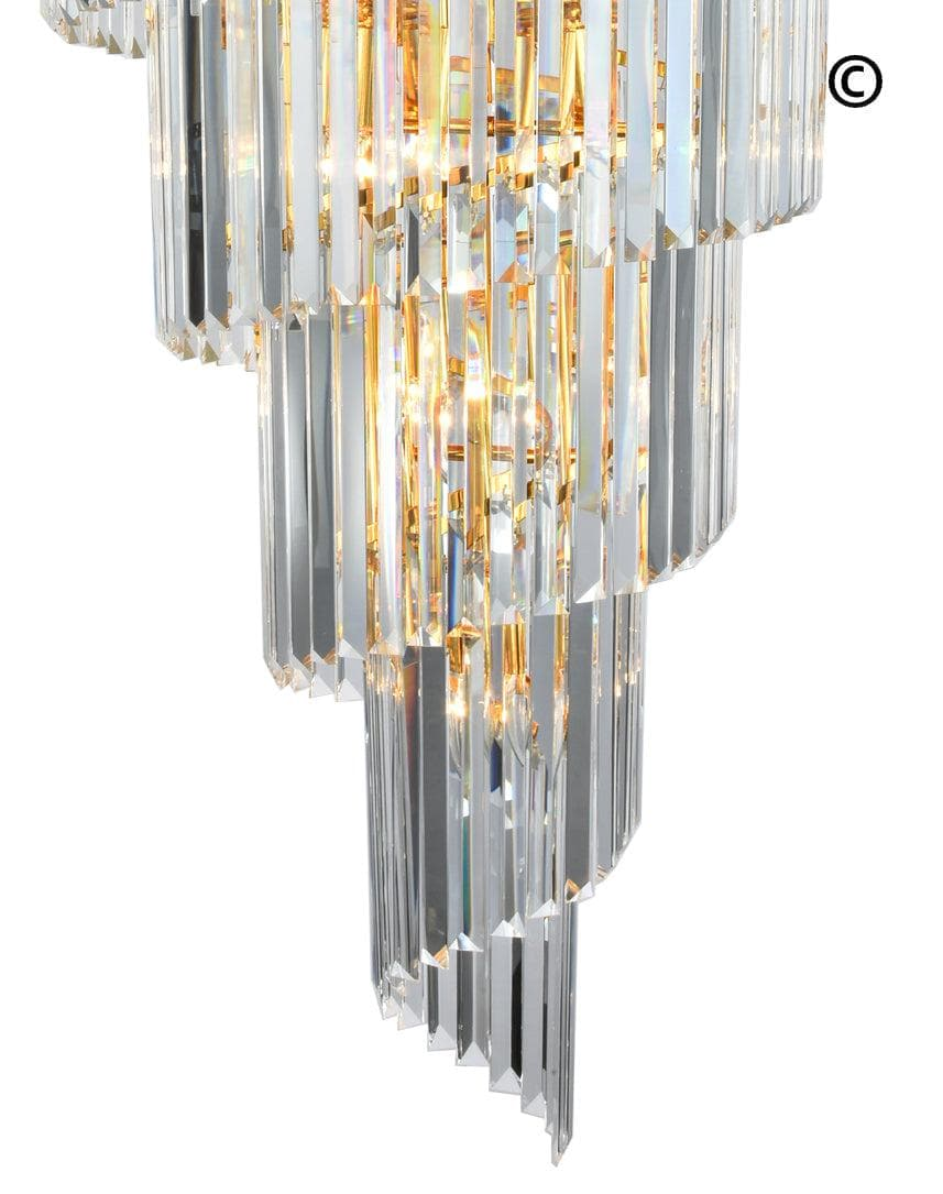high ceiling hanging modern in spiral for crystal long fixture item lighting flush mount chandelier stair chandeliers staircase light rain drop suspension from lights