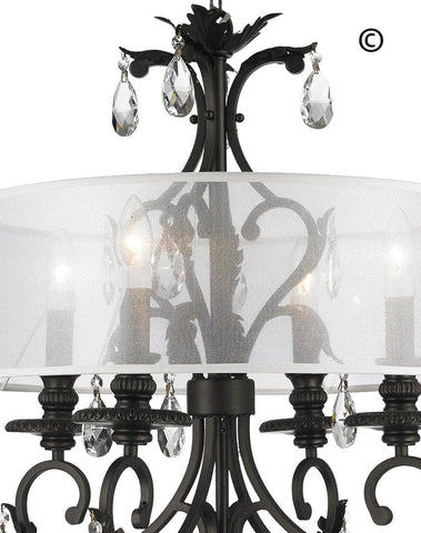 ARIA - Hampton 4 Arm Chandelier - Dark Bronze - Orb Outer Shade - Designer Chandelier  ARIA - Hampton 4 Arm Chandelier - Dark Bronze - Orb Outer Shade - Designer Chandelier