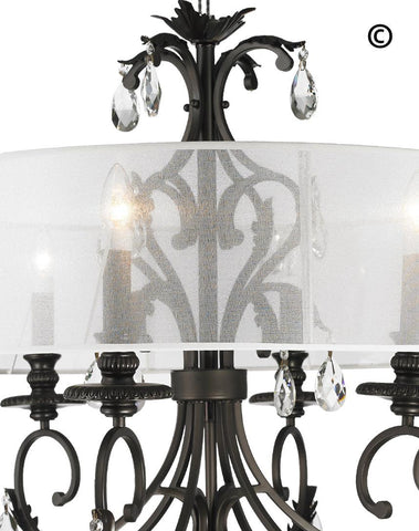 ARIA - Hampton 6 Arm Chandelier - Dark Bronze - Orb Outer Shade - Designer Chandelier  ARIA - Hampton 6 Arm Chandelier - Dark Bronze - Orb Outer Shade - Designer Chandelier