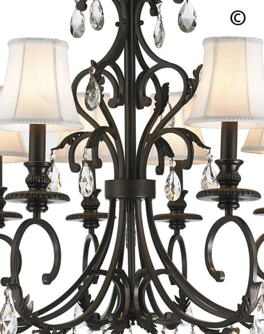 ARIA - Hampton 6 Arm Chandelier - Dark Bronze ARIA - Hampton 6 Arm Chandelier - Dark Bronze - Designer Chandelier