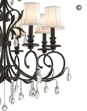 ARIA - Hampton 8 Arm Chandelier - Dark Bronze - Designer Chandelier