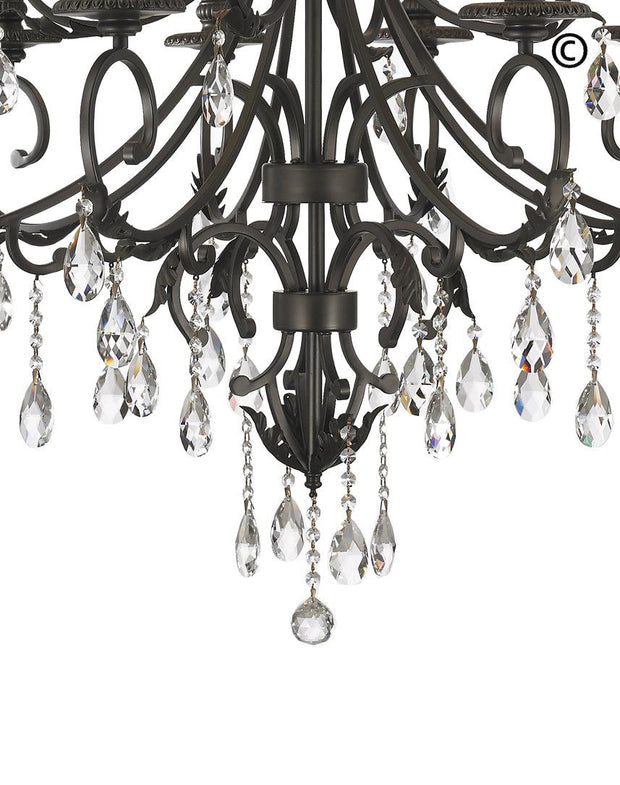 ARIA - Hampton 12 Arm Chandelier - Dark Bronze - Designer Chandelier