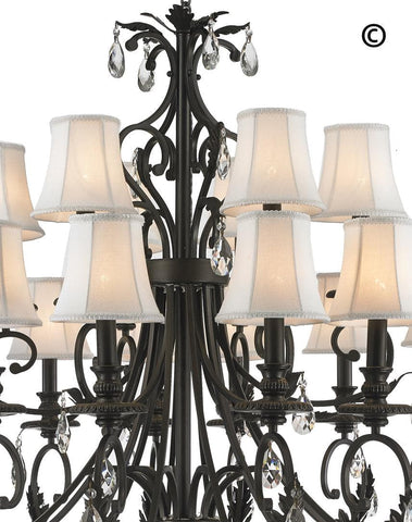 ARIA - Hampton 18 Arm Chandelier - Dark Bronze ARIA - Hampton 18 Arm Chandelier - Dark Bronze-Designer Chandelier Australia