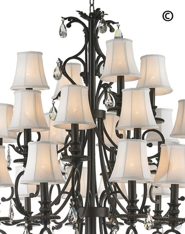ARIA - Hampton 24 Arm Chandelier - Dark Bronze - Designer Chandelier  ARIA - Hampton 24 Arm Chandelier - Dark Bronze - Designer Chandelier