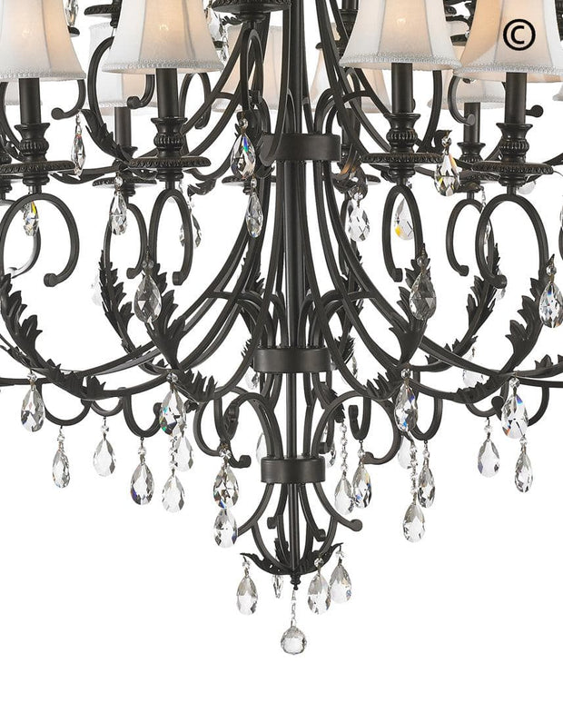 ARIA - Hampton 24 Arm Chandelier - Dark Bronze - Designer Chandelier