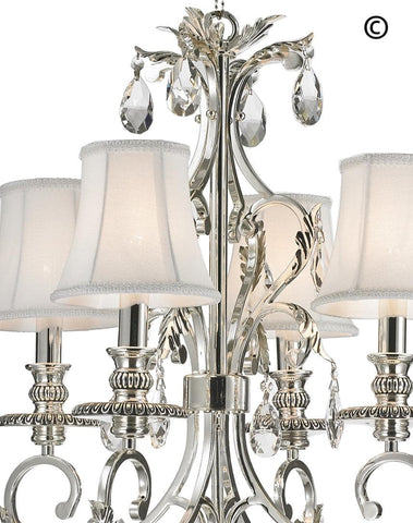 ARIA - Hampton 4 Arm Chandelier - Silver Plated ARIA - Hampton 4 Arm Chandelier - Silver Plated - Designer Chandelier