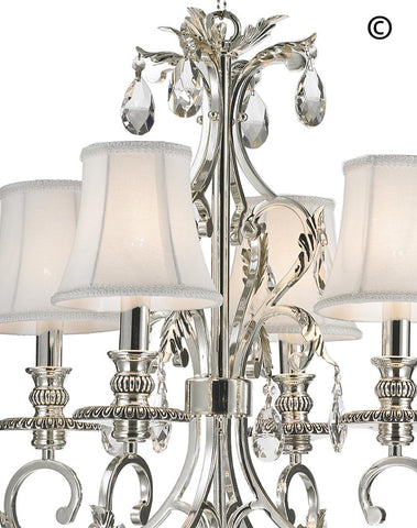ARIA - Hampton 4 Arm Chandelier - Silver Plated - Designer Chandelier  ARIA - Hampton 4 Arm Chandelier - Silver Plated - Designer Chandelier