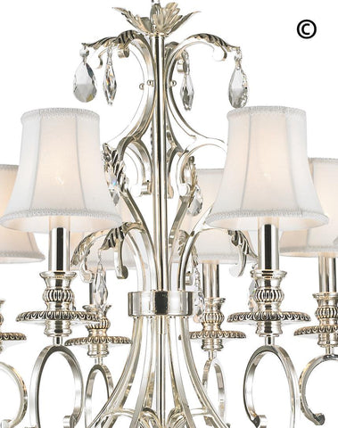 ARIA - Hampton 8 Arm Chandelier - Silver Plated ARIA - Hampton 8 Arm Chandelier - Silver Plated - Designer Chandelier