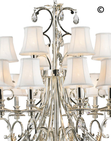 ARIA - Hampton 18 Arm Chandelier - Silver Plated ARIA - Hampton 18 Arm Chandelier - Silver Plated-Designer Chandelier Australia