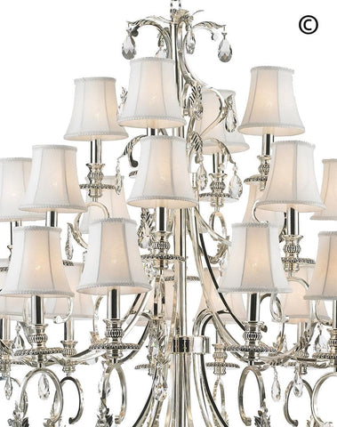 ARIA - Hampton 24 Arm Chandelier - Silver Plated - Designer Chandelier  ARIA - Hampton 24 Arm Chandelier - Silver Plated - Designer Chandelier