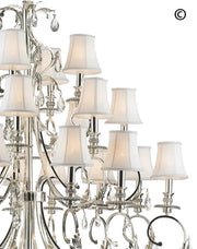 ARIA - Hampton 24 Arm Chandelier - Silver Plated - Designer Chandelier