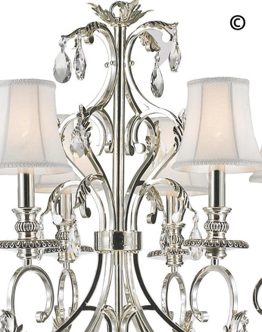ARIA - Hampton 6 Arm Chandelier - Silver Plated ARIA - Hampton 6 Arm Chandelier - Silver Plated - Designer Chandelier