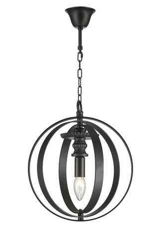 Hampton Orb - Single Light - Dark Bronze - Designer Chandelier  Hampton Orb - Single Light - Dark Bronze - Designer Chandelier