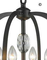 NewYork Luxe - 4 Light - Dark Bronze - Designer Chandelier