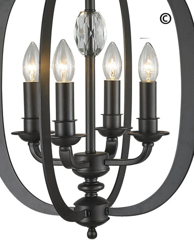 NewYork Luxe - 4 Light - Dark Bronze - Designer Chandelier  NewYork Luxe - 4 Light - Dark Bronze - Designer Chandelier