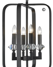 NewYork Allure - 4 Light - Dark Bronze - Designer Chandelier