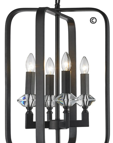 NewYork Allure - 4 Light - Dark Bronze - Designer Chandelier  NewYork Allure - 4 Light - Dark Bronze - Designer Chandelier