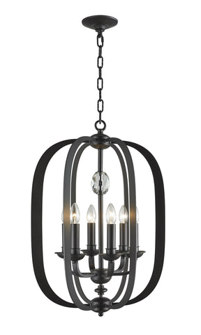 NewYork Luxe - 6 Light - Dark Bronze - Designer Chandelier  NewYork Luxe - 6 Light - Dark Bronze - Designer Chandelier