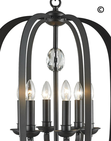 NewYork Luxe - 6 Light - Dark Bronze NewYork Luxe - 6 Light - Dark Bronze-Designer Chandelier Australia