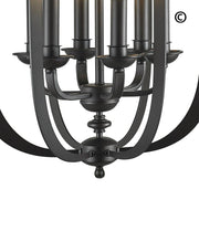NewYork Luxe - 6 Light - Dark Bronze - Designer Chandelier