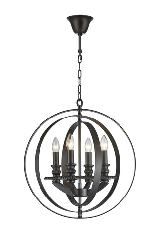 Hampton Orb - 4 Light - Dark Bronze