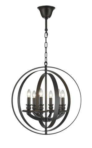 Hampton Orb - 6 Light - Dark Bronze