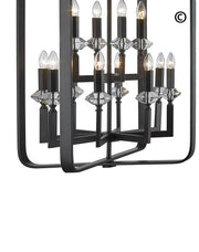 NewYork Allure - 12 Light - Dark Bronze - Designer Chandelier