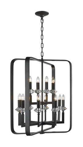 NewYork Allure - 12 Light - Dark Bronze - Designer Chandelier  NewYork Allure - 12 Light - Dark Bronze - Designer Chandelier