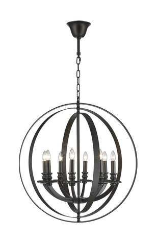 Hampton Orb - 8 Light - Dark Bronze - Designer Chandelier  Hampton Orb - 8 Light - Dark Bronze - Designer Chandelier