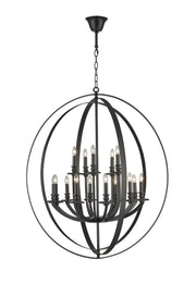 Hampton Orb - 15 Light - Dark Bronze - Designer Chandelier