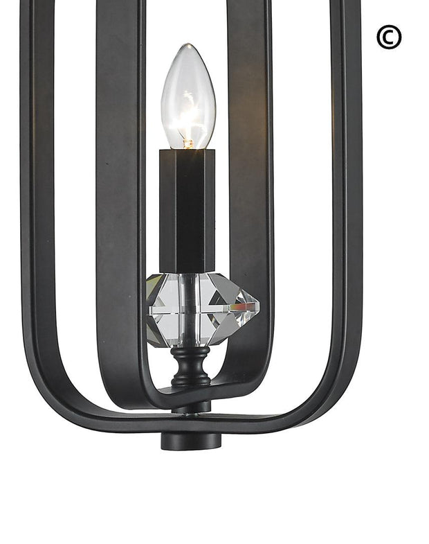 NewYork Allure - Single Light - Dark Bronze - Designer Chandelier