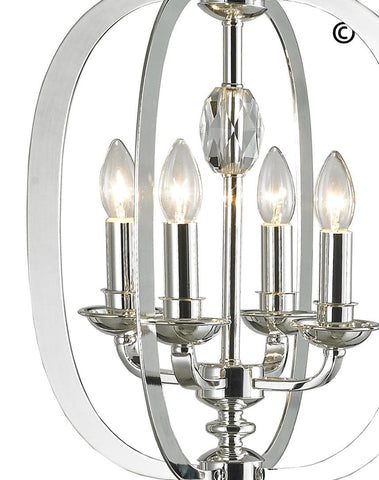 NewYork Luxe - 4 Light - Silver Plated NewYork Luxe - 4 Light - Silver Plated-Designer Chandelier Australia