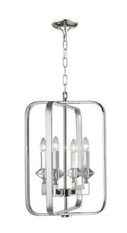 NewYork Allure - 4 Light - Silver Plated - Designer Chandelier