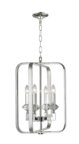 NewYork Allure - 4 Light - Silver Plated-Designer Chandelier Australia NewYork Allure - 4 Light - Silver Plated-Designer Chandelier Australia