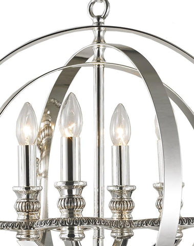 Hampton Orb - 4 Light - Silver Plated Hampton Orb - 4 Light - Silver Plated-Designer Chandelier Australia