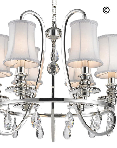 NewYork - Hampton Halo 6 Light Chandelier - Silver Plated NewYork - Hampton Halo 6 Light Chandelier - Silver Plated-Designer Chandelier Australia