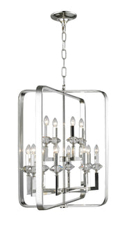 NewYork Allure - 12 Light - Silver Plated - Designer Chandelier