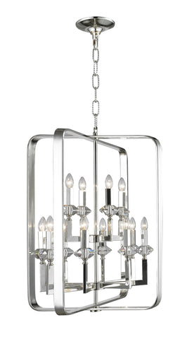 NewYork Allure - 12 Light - Silver Plated-Designer Chandelier Australia NewYork Allure - 12 Light - Silver Plated-Designer Chandelier Australia