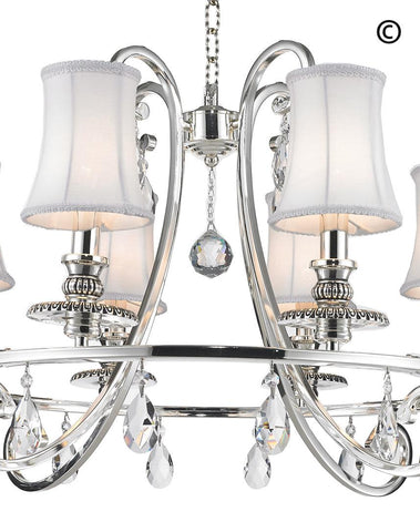 NewYork - Hampton Halo 8 Light Chandelier - Silver Plated NewYork - Hampton Halo 8 Light Chandelier - Silver Plated-Designer Chandelier Australia